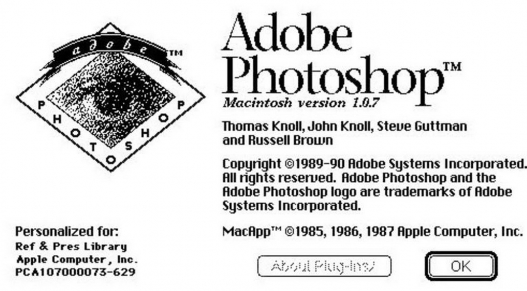 the origin of Photoshop